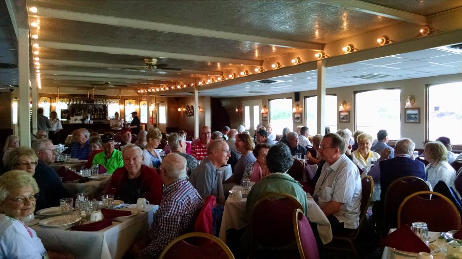 Southern Hospitality 2016 enjoying a delicious prime rib buffet on board the Southern Belle Riverboat, Chattanooga TN