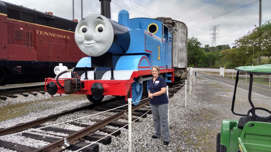 Look who Tour Director Sherry found at the Tennessee Valley Railroad in Chattanooga TN
