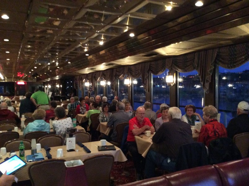 Breakfast, lunch, dinner, fun and games, and a relaxing time on the Celebration Belle Mississippi River Cruise with Wesley Friends!