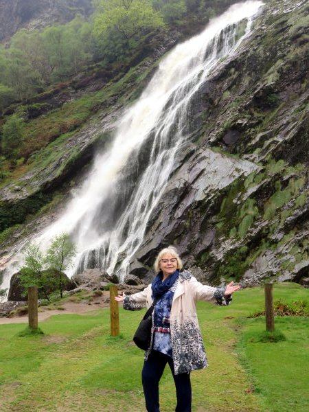 Waterfall in the Wicklow Mountains in Ireland (British Isles Cruise)