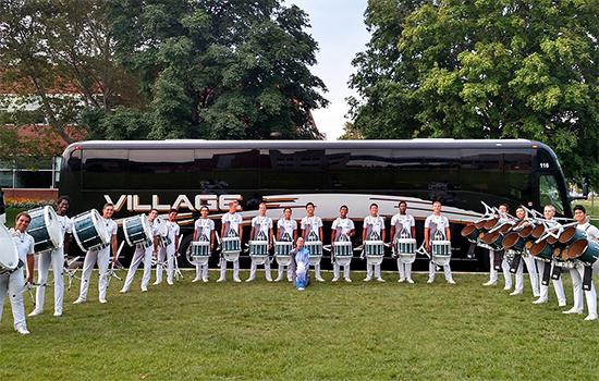 Band charter bus