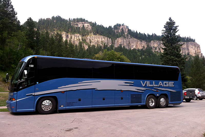 Charter bus Colorado