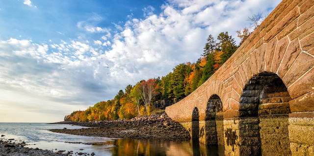 Visit Beautiful fall colors of Acadia National Park in Maine